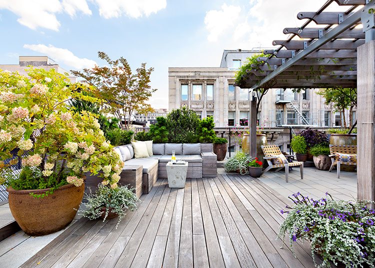 Ideas for decorating the terrace of an apartment n.07
