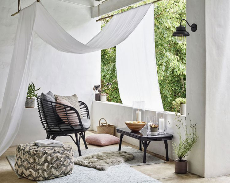 Ideas for decorating the terrace of an apartment n.02