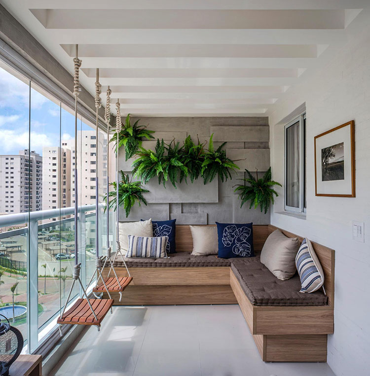Ideas for decorating the terrace of an apartment 23