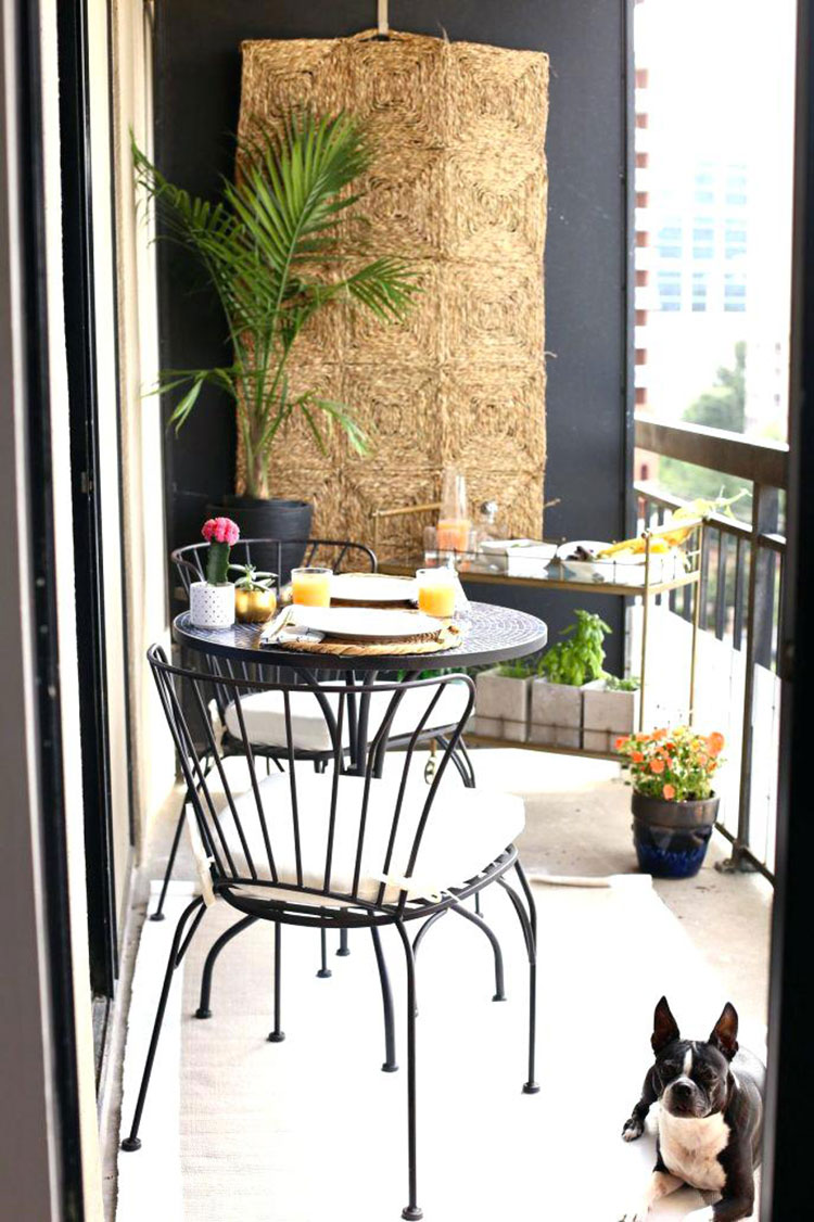 Ideas for decorating the terrace of an apartment 15