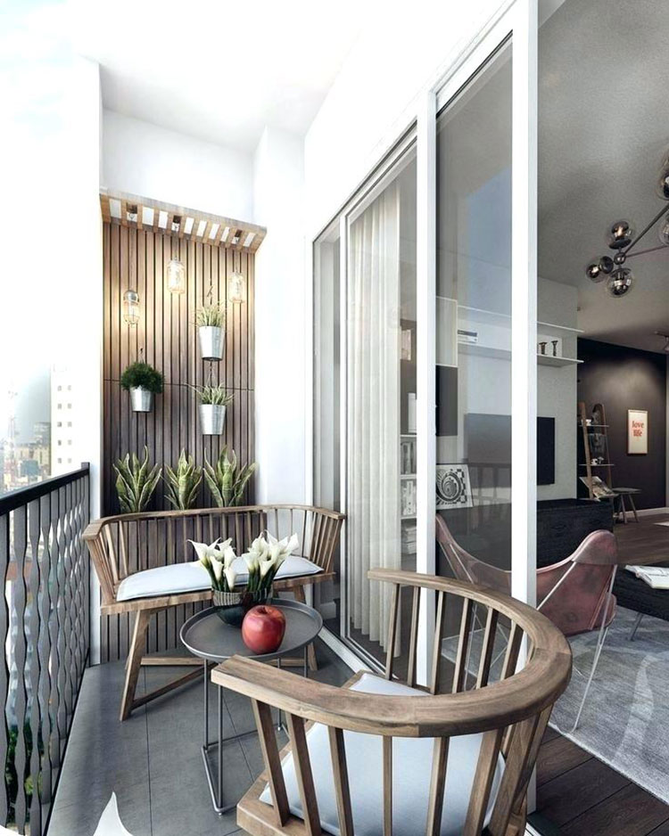 Ideas for decorating the terrace of an apartment n.19