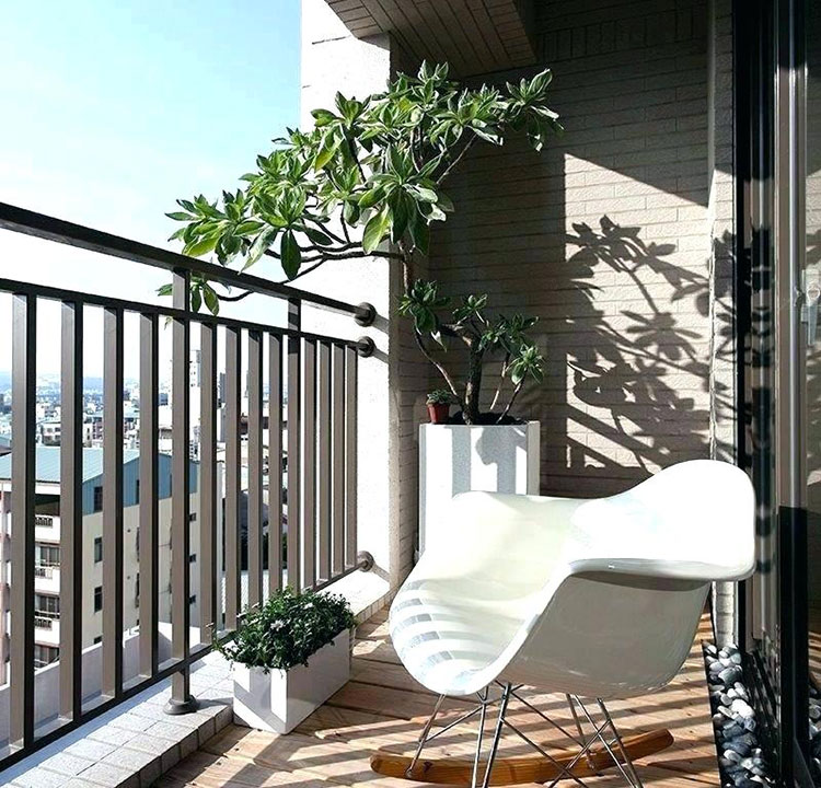 Ideas for decorating the terrace of an apartment n.16