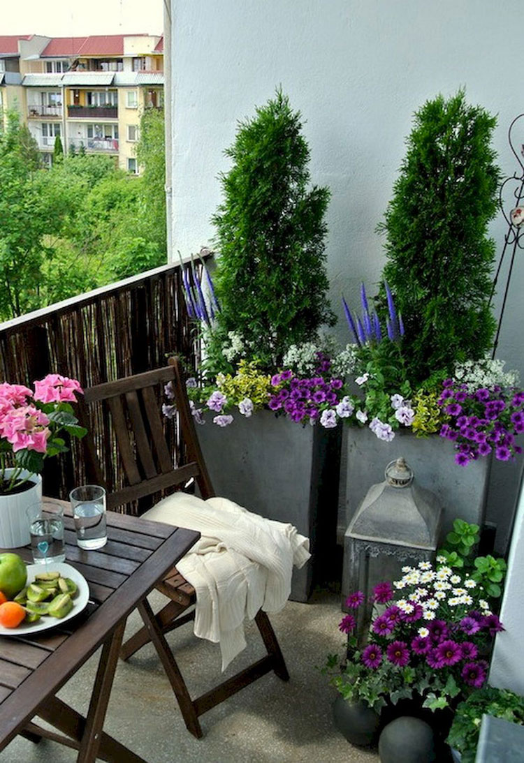 Ideas for decorating the terrace of an apartment 20
