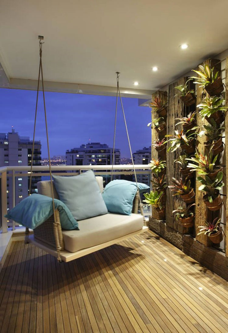 Ideas for decorating the terrace of an apartment 22