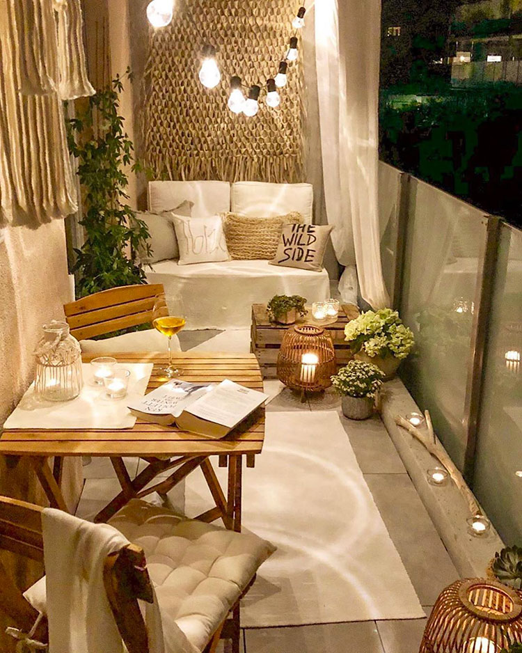 Ideas for decorating the terrace of an apartment n.28