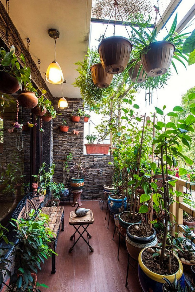 Ideas for decorating the terrace of an apartment n.21