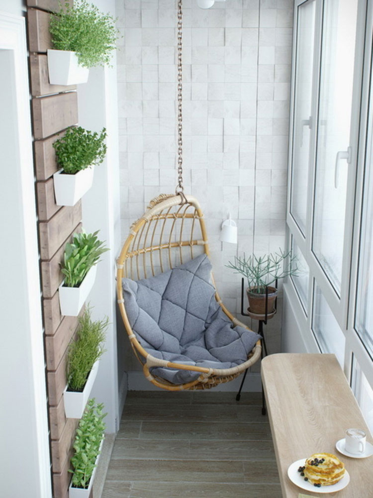 Ideas for decorating the terrace of an apartment n.14