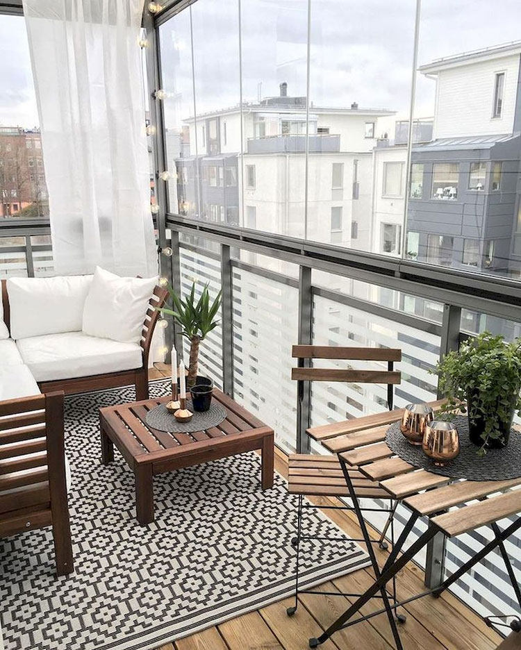 Ideas for decorating the terrace of an apartment n.17