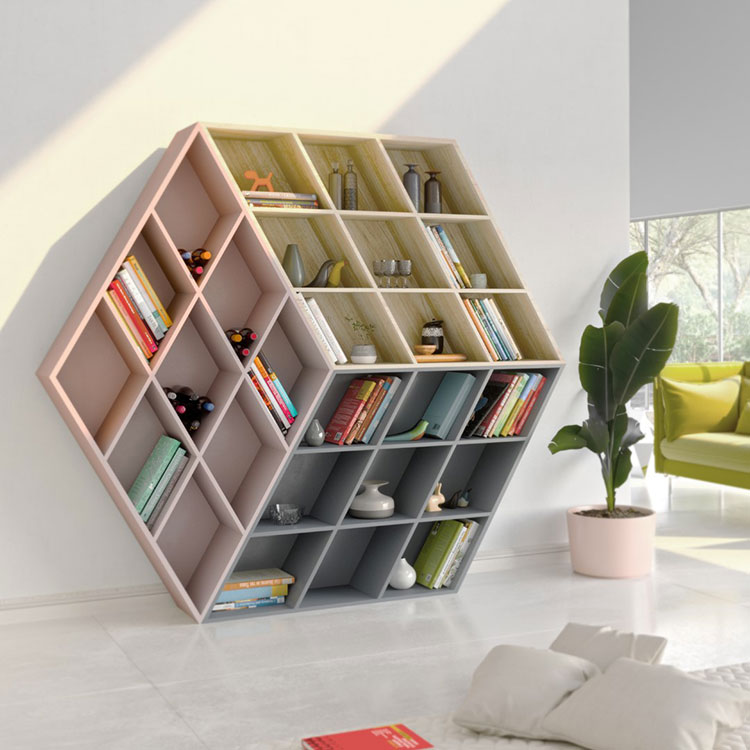 Anesis 1 wall bookcase model for the living room