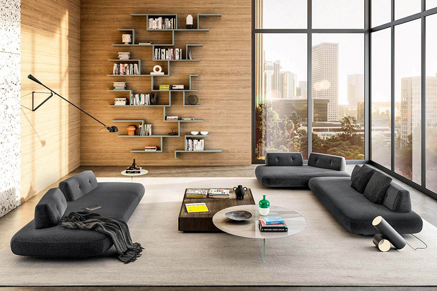Lago 01 wall bookcase for living room