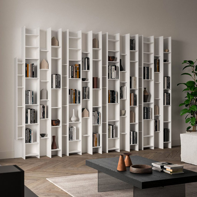 Wall bookcase for living room Ozzio 01