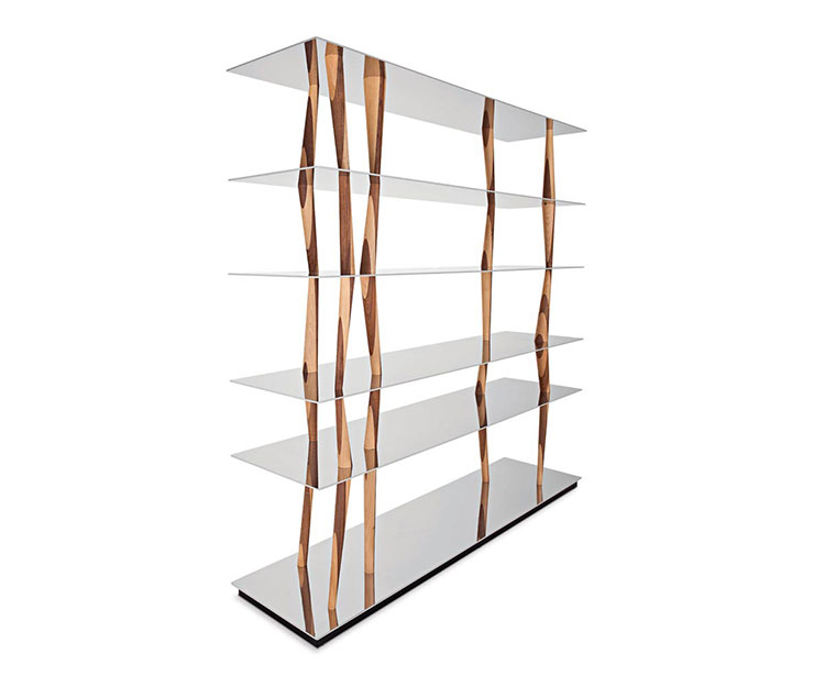 Wall bookcase for living room Horm 04