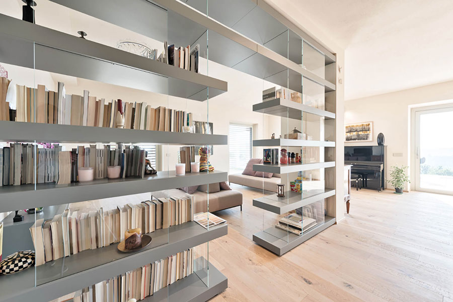 Wall bookcase for living room Lago 05