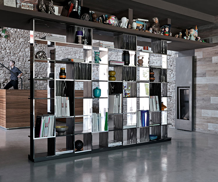 Wall bookcase for living room Horm 01