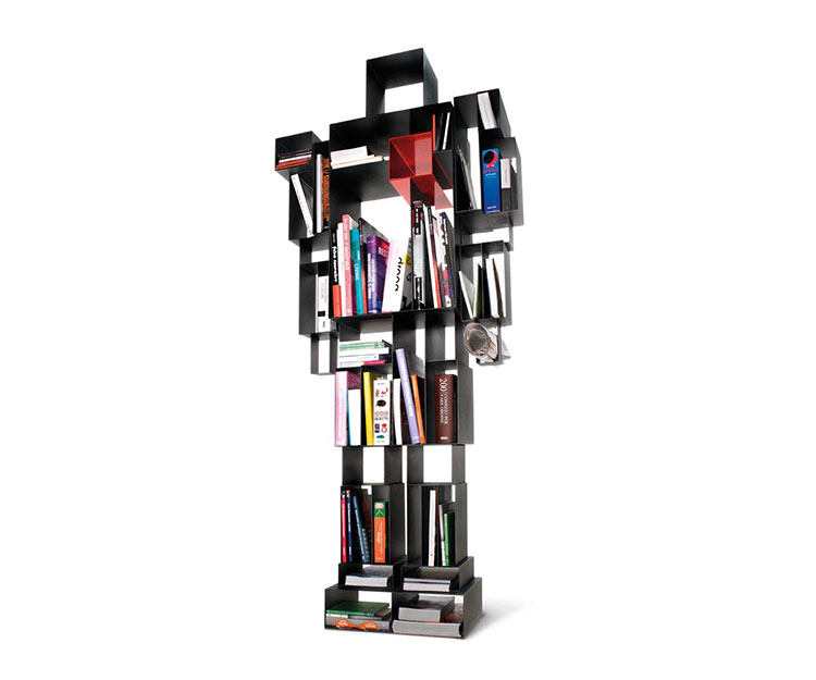 Wall bookcase for living room Horm 05