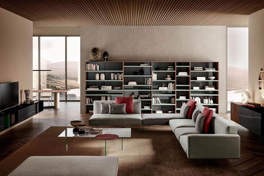Lago 04 wall bookcase for living room