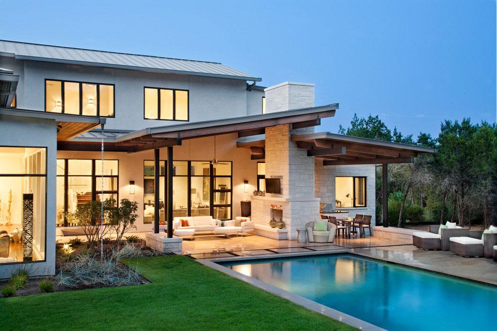 Photo of the modern design swimming pool # 01