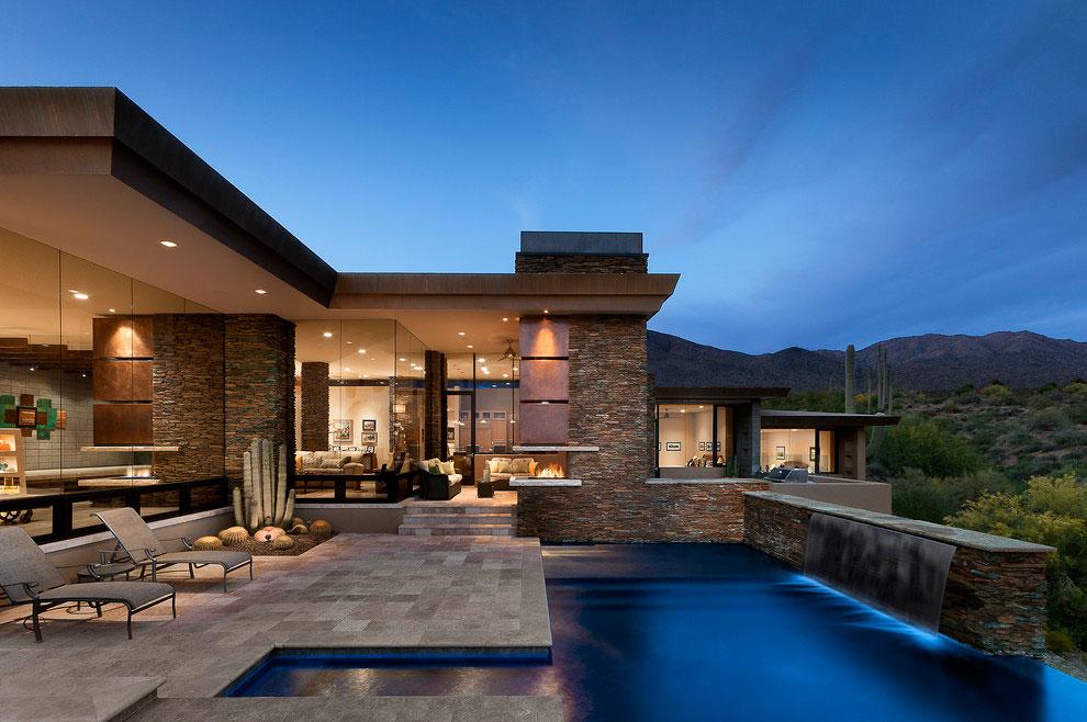 Photo of the modern design swimming pool # 10