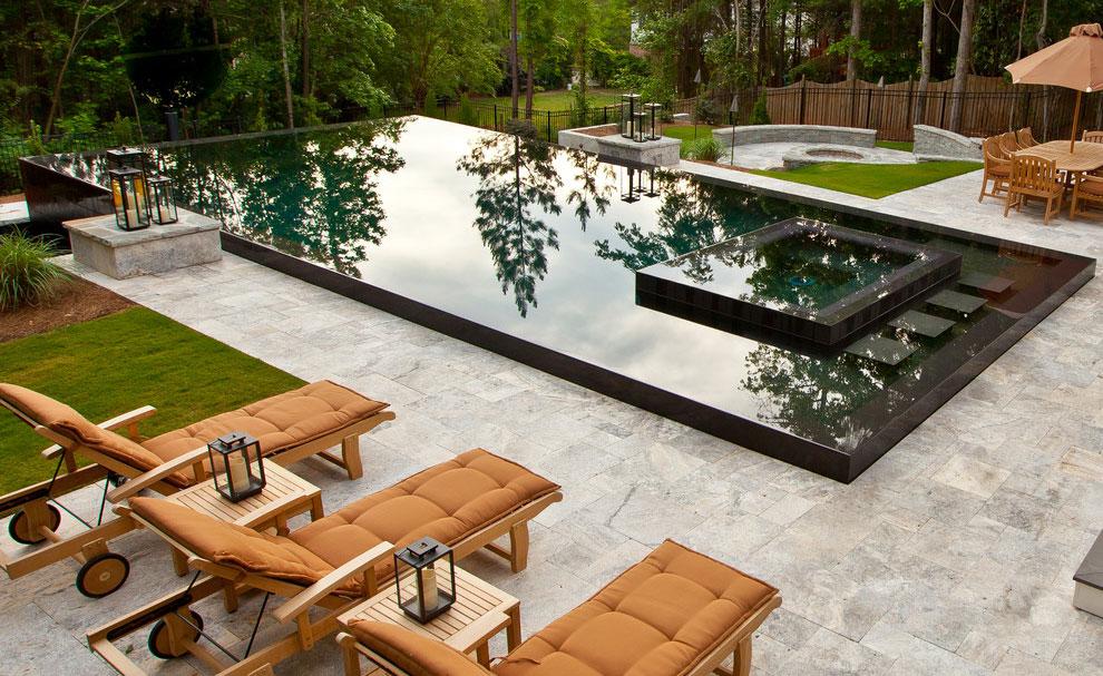 Photo of the modern design swimming pool # 13