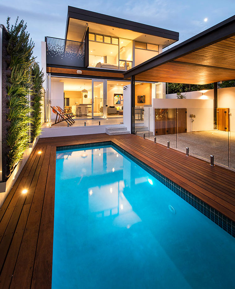 Photo of the modern design swimming pool # 15