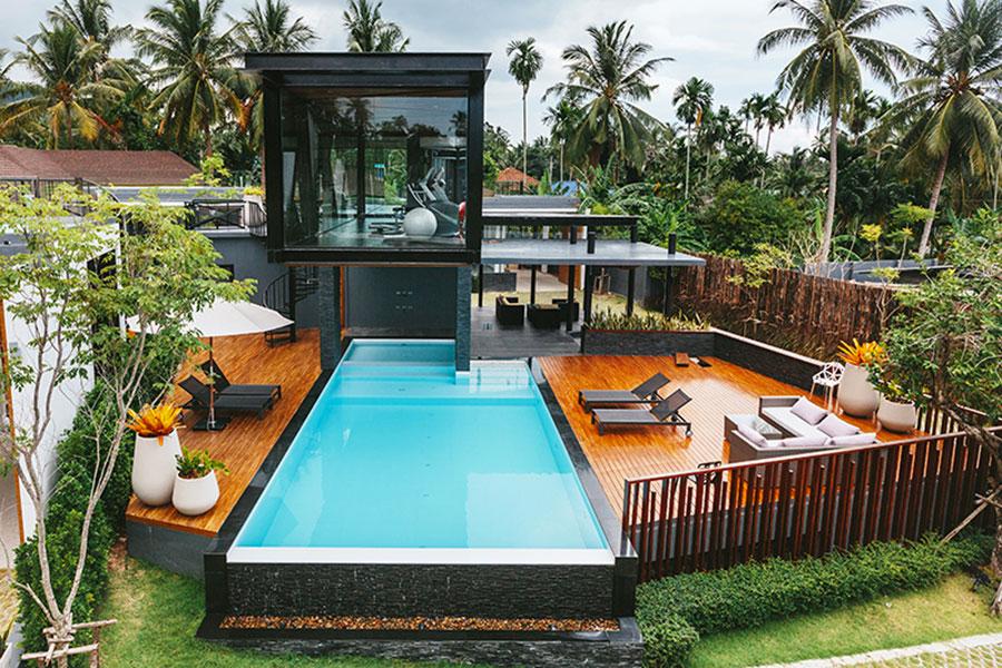 Modern above ground pool model n.04