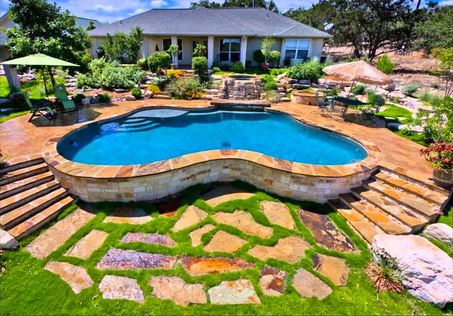 Modern above ground pool model n.02