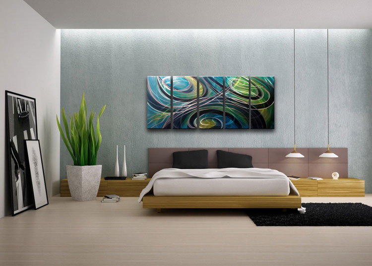 Abstract painting for the bedroom n.01