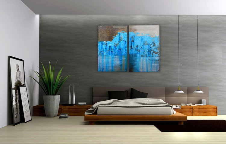 Abstract painting for the bedroom n.16