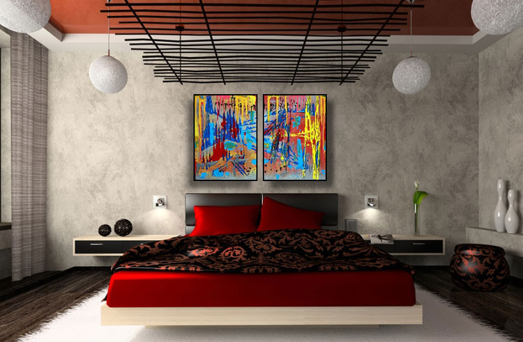 Abstract painting for the bedroom n.23