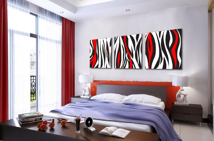 Abstract painting for the bedroom n.17