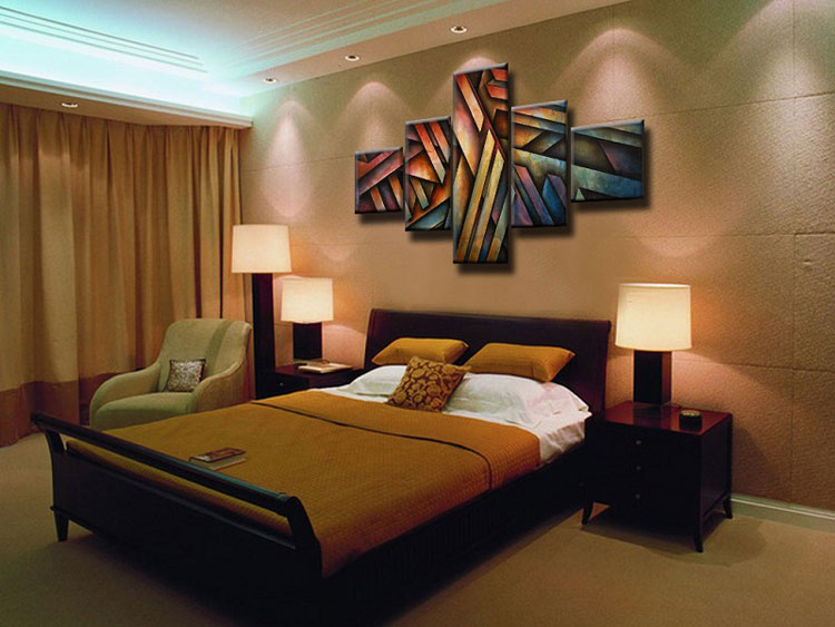 Abstract painting for the bedroom n.09
