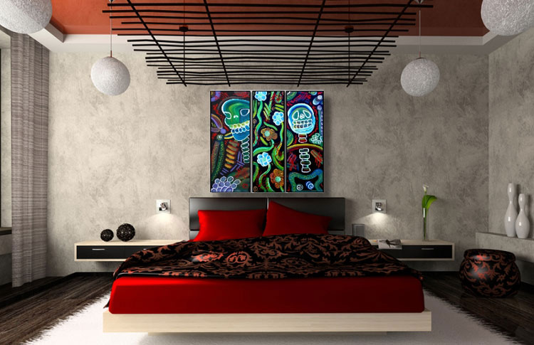 Abstract painting for the bedroom n.24