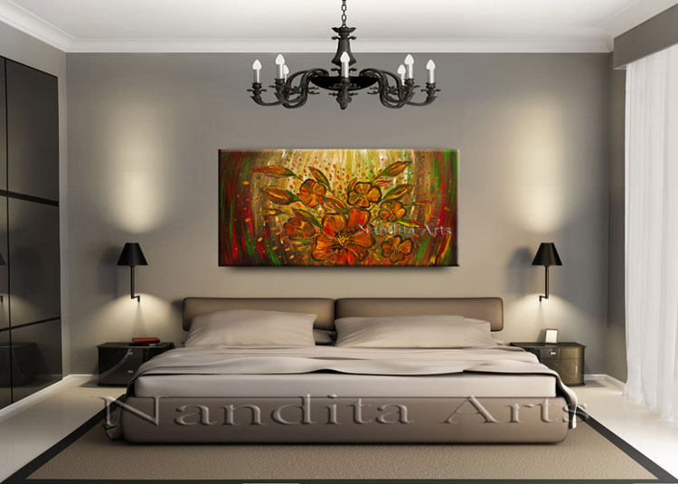 Abstract painting for the bedroom n.10