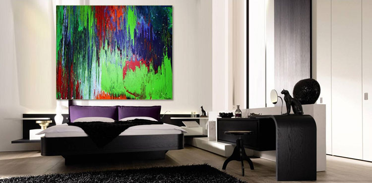 Abstract painting for the bedroom n.08