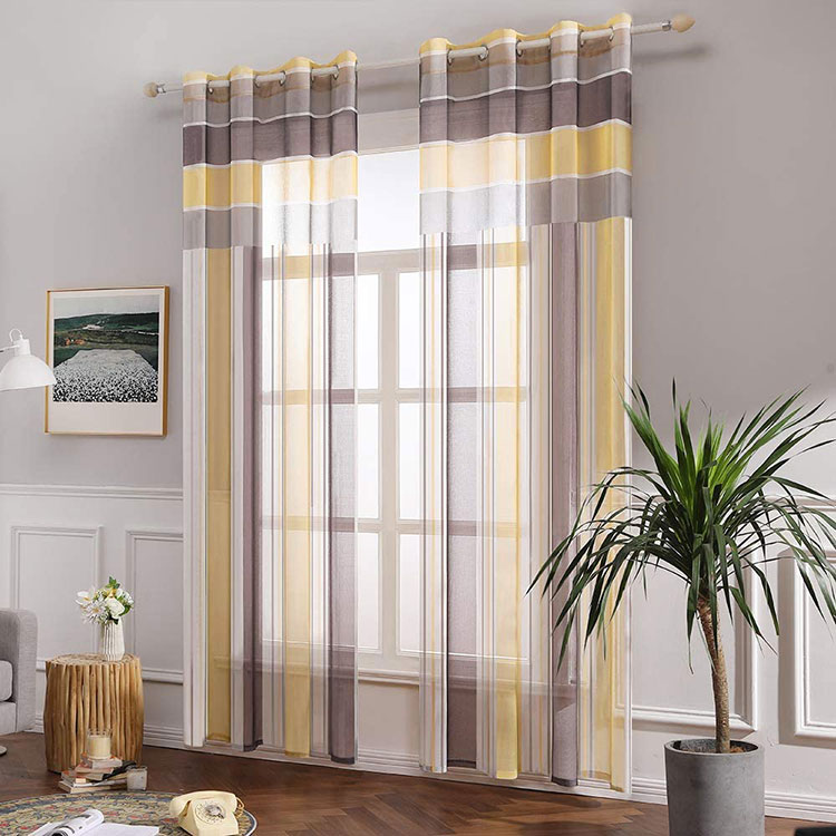 Classic dining room curtains pattern 06