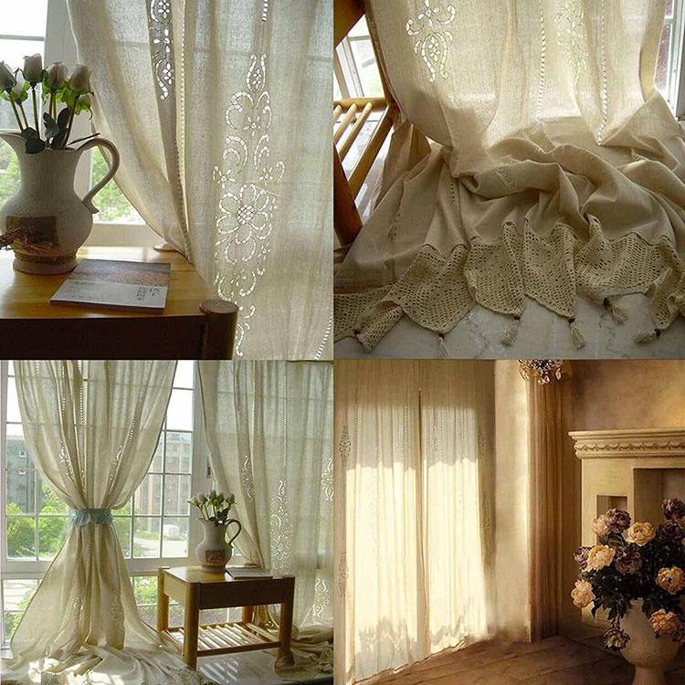 Classic dining room curtains pattern 02