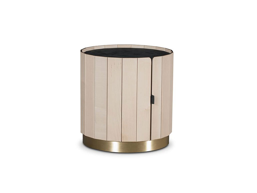 Round bedside table model with modern design n.02