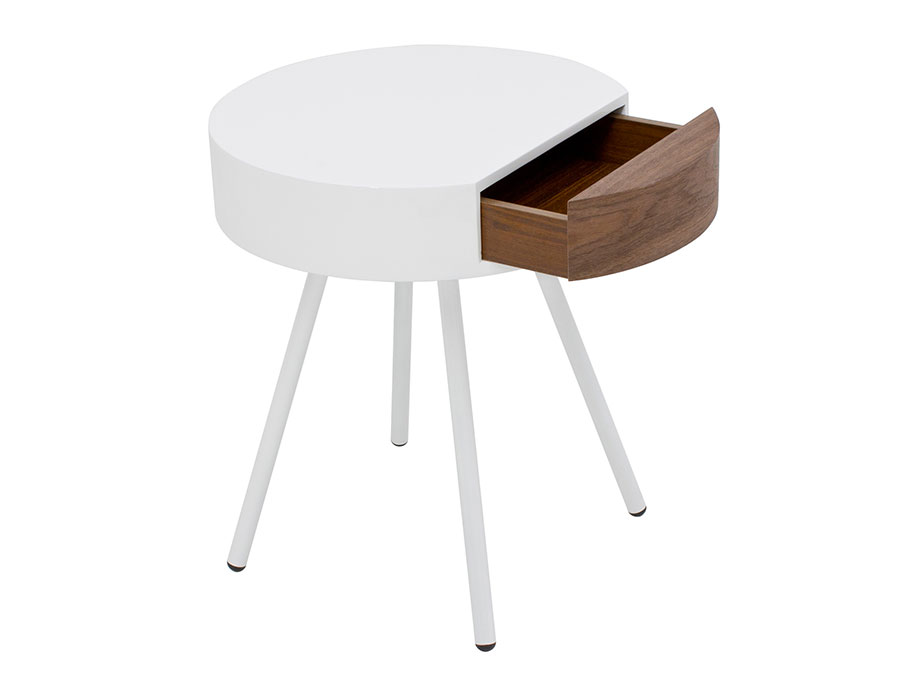 Round bedside table model with a modern design n.12