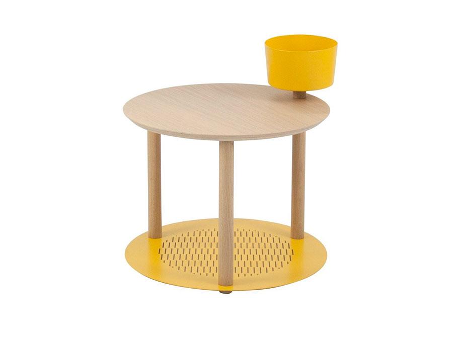 Round bedside table model with modern design n.09