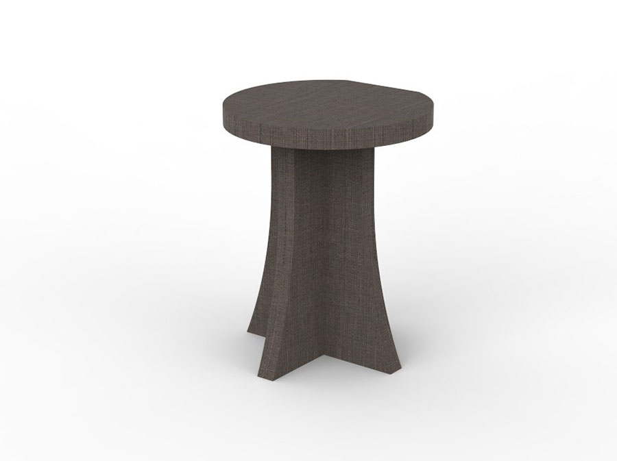 Round bedside table model with a modern design n.11