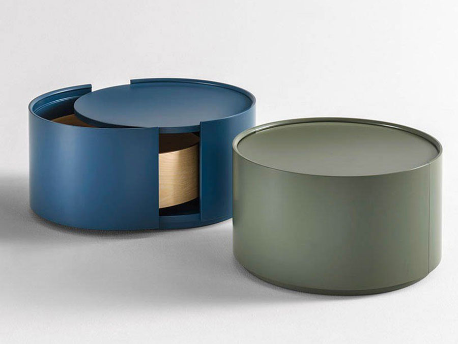 Modern design round bedside table model n.07