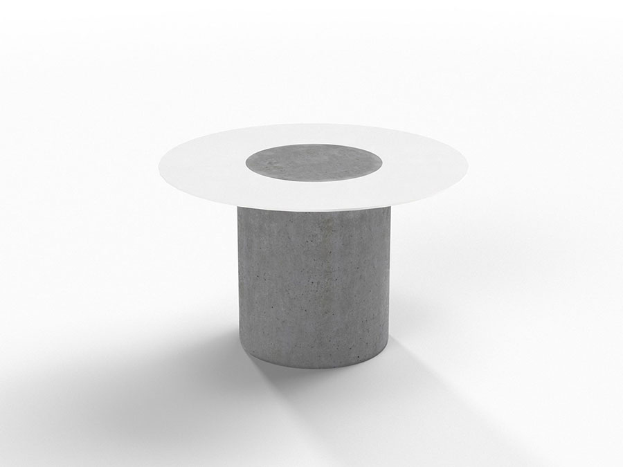 Round bedside table model with a modern design n.10
