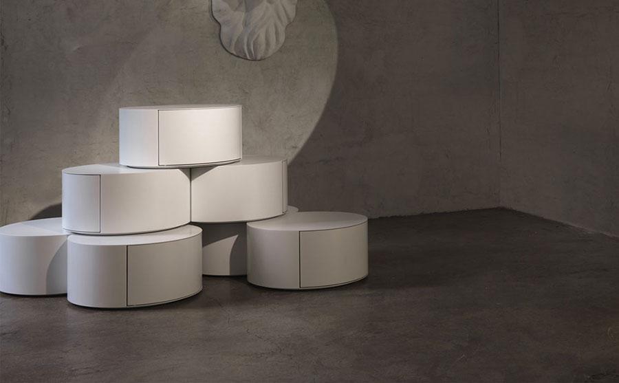 Modern design round bedside table model n.19