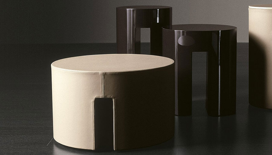 Round bedside table model with a modern design n.20