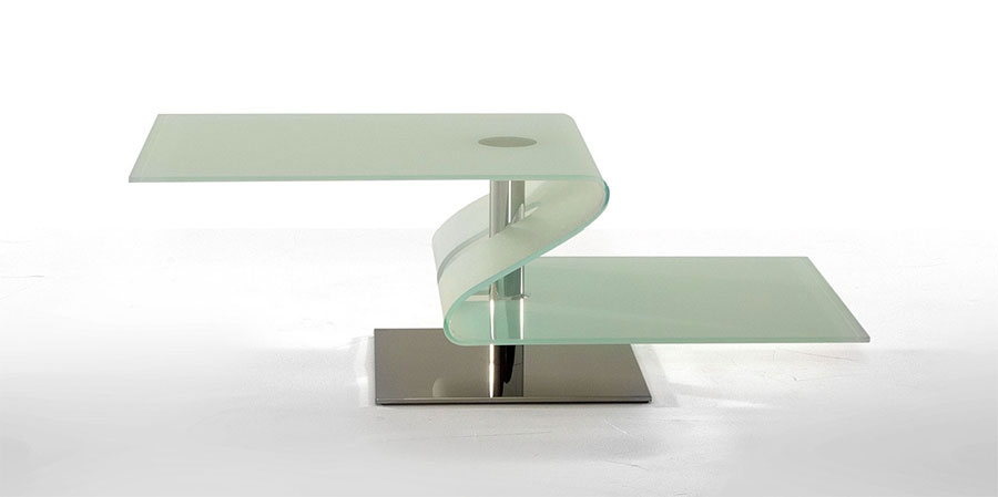 Glass coffee table model n.02