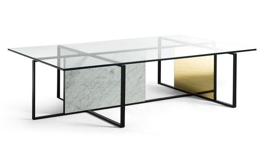 Glass coffee table model n.03