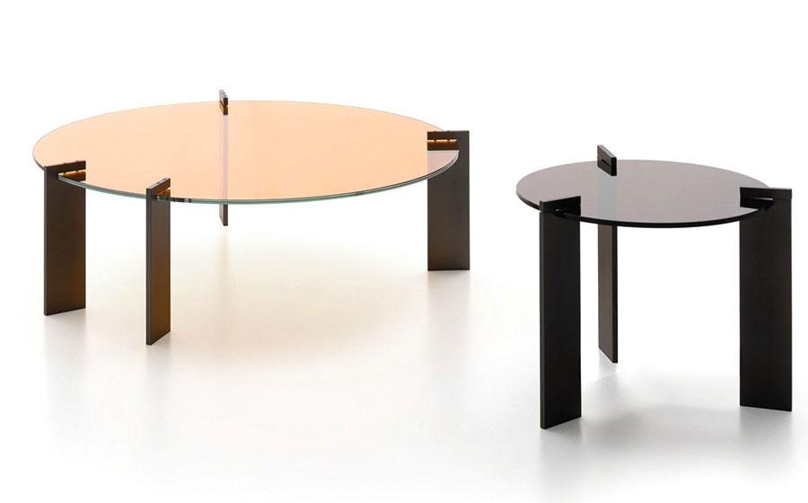 Glass coffee table model n.06