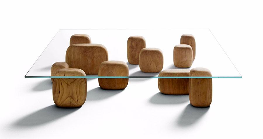 Glass coffee table model n.09