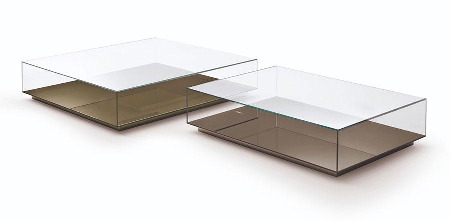 Glass coffee table model n.07