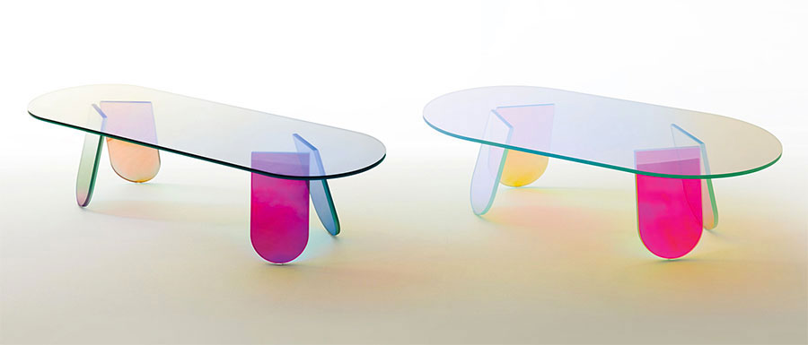 Glass coffee table model n.26